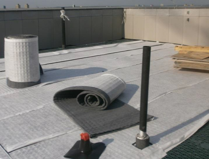 blueroof drainage system on the roof