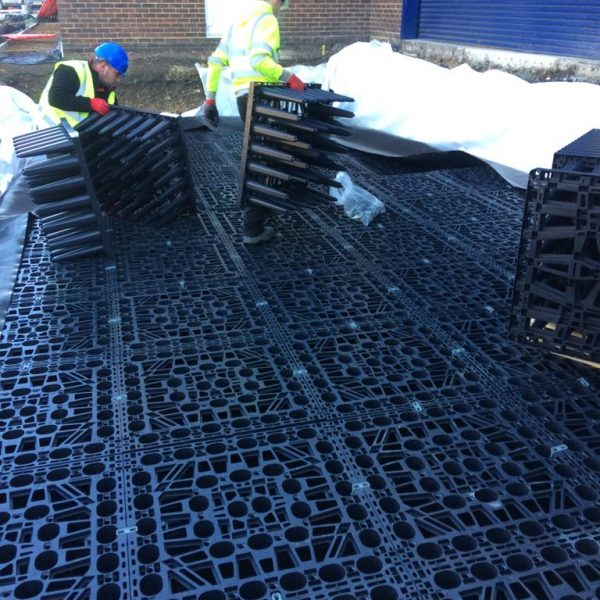 Suds Attenuation Tank Installed In Croydon For Hgv Traffic