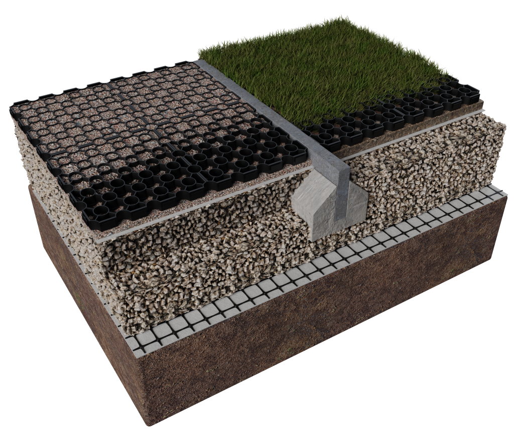 ABG Sudspave plastic porous pavers for gravel and grass surfaces