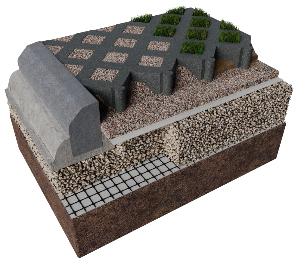 ABG Truckcell heavy duty porous paving for grass and gravel