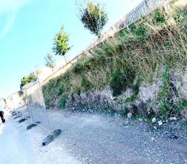 Unstable existing embankment