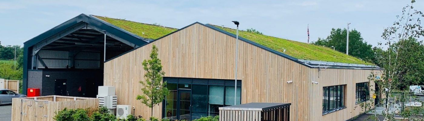 ABG Green Roof installed by Geogreen on a fire station in the Wirral